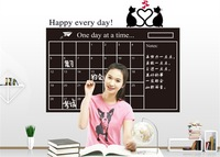 Free Shipping:Happy everyday  Removable Vinyl Chalkboard Home Decals/PVC Blackboard Wall stickers/Furniture stickers45*60cm