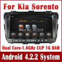 Android 4.2 Car DVD Player for Kia Sorento 2013 with GPS Navigation Radio TV BT USB CD SD AUX iPod DVR OBD 3G WIFI Audio Stereo