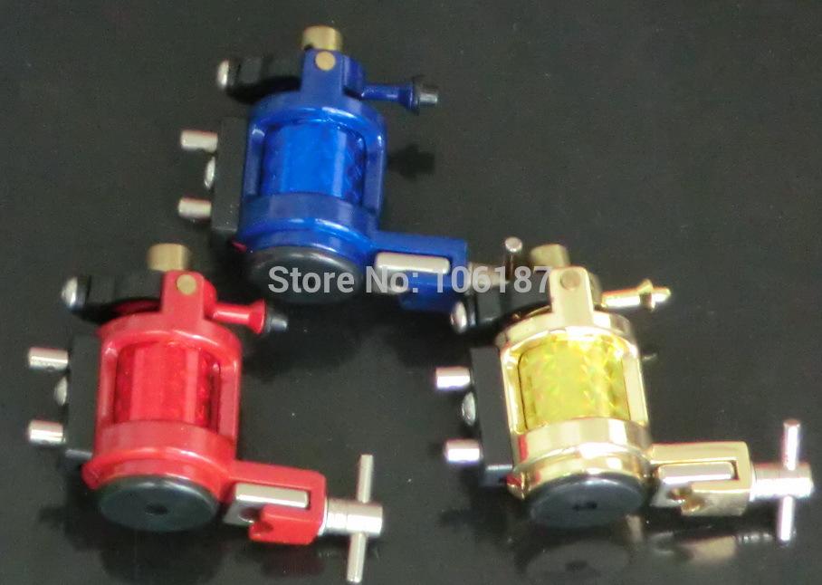 Wholesale - New Blue/Red/Yellow Tattoo Rotary Motor Machine Guns Liner Shader Professional Rotary Tattoo Machine Gun Supply(China (Mainland))