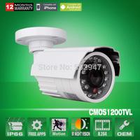 HD 1200TVL Sony CMOS IMX138 Sensor 24 IR Outdoor Waterproof Security CCTV Camera IR-Cut OSD Menu