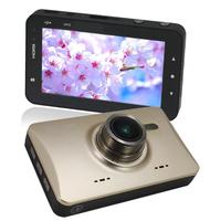 "Gold Super Slim GT500 Full HD 1080P 30FPS 3"" LCD Car DVR Sport Camera G-sensor/WDR H.264 Car Video Recorder Dash Cam Vehicle"