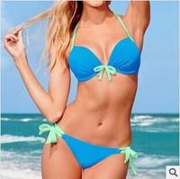 Sexy Women Bikini Push-up Padded Strappy Bra Swimsuit Bathing Suit Swimwear SET with Free shipping