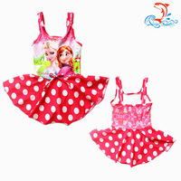 Biquinis Infantil Sale Two Piece 2014 Frozen Swim Children Girls Swimsuit Bikini Wear One Piece Bodysuit Clothing Free Shipping