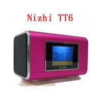 6 Colors Nizhi TT6 Portable Mini Music Player with Screen Support Micro SD/TF Card U-disk Slot FM Radio Digital Sound Box Hot