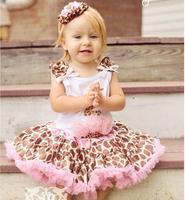 2014 new print fashion girl princess deer pettiskirt charming pink 2Y---12Y designer vintage style childrens festival clothing