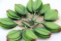 200pcs Green Artificial Leaf Leaves For Bouquet Garland Wreath Cap Decoration Craft DIY