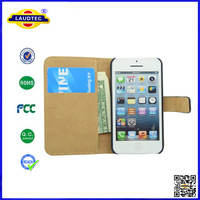 IN STOCK  for iPhone 4/4S PU Leather Case Cover , Flip Cover Detachable Magnet Leather Pouch Cover For iphone 4 Laudtec