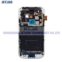 For Samsung Galaxy S4 i9505 LCD  Screen Touch Digitizer  With Frame Assembly  White Color Free Shiping