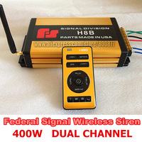Federal Signal 400W wireless police car siren 27 tones with Microphone Dual channel (FS-H8B) (Siren only without speaker)