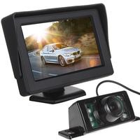 4.3 Inch HD Digital Panel Car Rearview LCD Monitor + 7 IR Lights Night Vision Car Rear View Reversing Camera