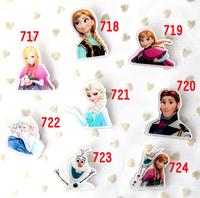 NEW Frozen Princess Elsa Anna Brooch Acrylic Badge Pins COS Accessory 8pcs