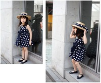 2014 hot-selling children clothing high quality 100% cotton girls' dresses for 2T-11T kids wear wholesale  5pcs/lot freeship
