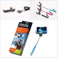 DHL 20Pcs Rotary Extendable Handheld Camera Tripod Mobile phone Monopod holder for Digital Camera phone i9300 i9500 n7100 DV