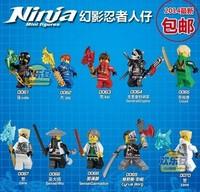 Free Shipping Wholesale Decool 100pcs Building Blocks Ninja Zane Cyrus Borg Sensei Wu Lloyd action figures Children toys