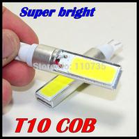 2PCS/Lot Super Bright Xenon White T10 194 168 W5W COB 10W LED Interior Bulb Light Parking backup Fog Brake Lamp Free shipping