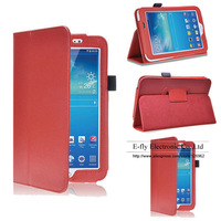 "Free Shipping PU Leather Case for Samsung Galaxy Tab3 7"" P3200 P3210 T210 T211  Stand Cover Case With Touch Pen As Gift"