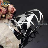 2014 Europe & USA Big Design Cuff Bangle Hot Sell Free Shipping Hollow Geometric Alloy Charm Bracelet Statement Jewelry BL149