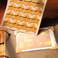 Wholesale(480 pcs/lot) Vintage kraft paper corners DIY photo album accessories Photo decoration stickers
