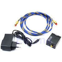1PC Digital Optical Coaxial Toslink To Analog RCA L/R Audio Converter free shipping