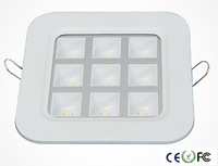 Free DHL 9W led grille light Ac85-264V CE&ROHS 800Lm white cool white 9W Square grille panel wholesales