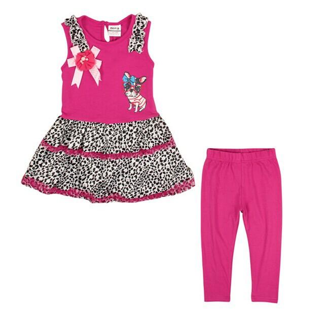 Free Shipping 2014 New Summer Girls Cats Clothing set Baby Cartoon Suits 100% Cotton TUTU dress + Pants NOVA Kids Clothes sets(China (Mainland))