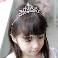 10pcs/lot Real Hairbands New 2014 Accessories Cute Children Kids Girls Rhinestone Princess Hair Band Crown Headband Tiara Frozen