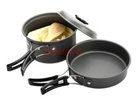 Portable Outdoor Cooking Set Anodised Aluminum Non-stick Cookware Camping Picnic Hiking Utensils Pot Pan Bowl 1pc