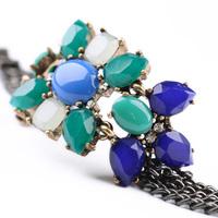 Fashion Brand Designer Vintage Bracelet Retro Blue Leaf Bracelet Accessory For Women