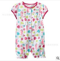 2014 Baby Climb Clothes   Newborn  Short Sleeve Rompers  Infant Girl clothes  6-24M