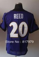 Cheap men #20 Ed Reed Men's Elite Team Purple Football Jersey