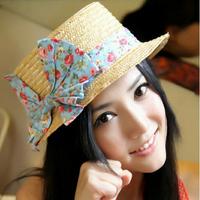 Nice Women's Straw Hat, Big Bow Sun Hat Woman Five Colors Cheap Hats Free Drop Shipping