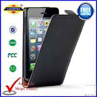 5 pcs/lot High Quality Ultra Slim Leather Case For iphone 5s New Case Cover In Stock Free shipping--laudtec