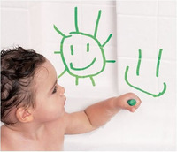 Baby Safety pen graffiti Happy Child Safety Bath Brush Baby Toy Boy Safety Brush Food Color Wax Painting