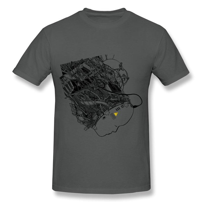 Men T Shirt Round Neck Virtual Reality Custom T Shirts Mens 2014 Brand free shipping 100% cotton(China (Mainland))