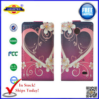 5 pcs/lot Leather Flip Case For Nokia XL In Stock Free shipping--laudtec
