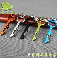 Wholesale -12Pcs Multicolour KEY Bottle Opener Laser Printing Beer Can Opener Promotional gifts- Free Shipping