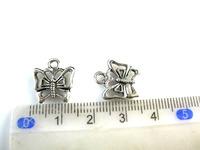 2014 hot Free Shipping Wholesale Fashion 100 Pcs Tibetan Silver Beautiful Butterfly Charms Pendants 15mmx 12mm Jewelry DIY