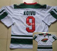 #9 Mikko Koivu White Minnesota Wild Team ice hockey jerseys 2014 cheap,free shipping