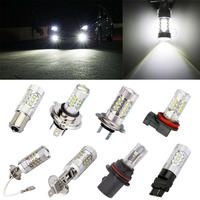 2pcs 80W Cree LED car Lights Fog Lamp led light Head car light source parking 1156/BA15S H4 H7 H11/8 3157 H3 H1 9007 9006 9005