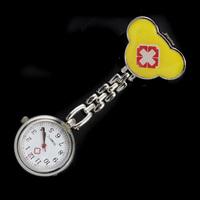 50PCS Red Cross Design Nurse Portable Pocket Pendant Watches Free Shipping