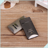 5pcs/lot Fashion Ultrathin Electroplating Plating Portable Inflatable Smoking Cigarette Lighter Butane Gas refillable lighter