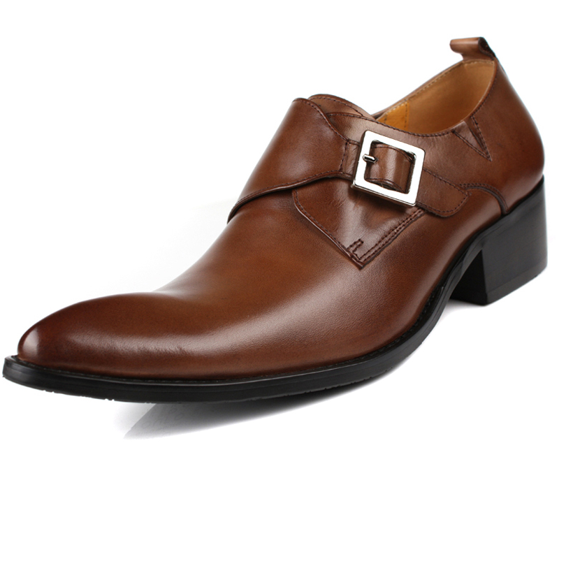 Genuine Leather Men's Ankle Boots Business Formal Pointed Toe First