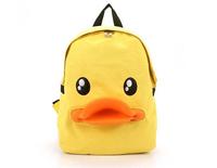 2014 women Cute cartoon student backpack Duck duck mouth bags
