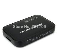 Mini Portable Full HD 1080P USB External HDD Media Player with HDMI VGA SD Support MKV H.264 RMVB WMV DHL Free Shipping
