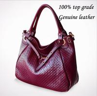 New 2014 Women brand 100% genuine leather handbag Women's messenger bags top quality Y0600