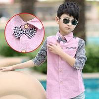 Big baby boy boy shirt han edition of spring loaded long sleeve shirt children