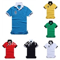 2014 new Design Cotton Short Sleeve Men's Heavyweight t- Shirts (embroidery brand logo) US size S-XXL