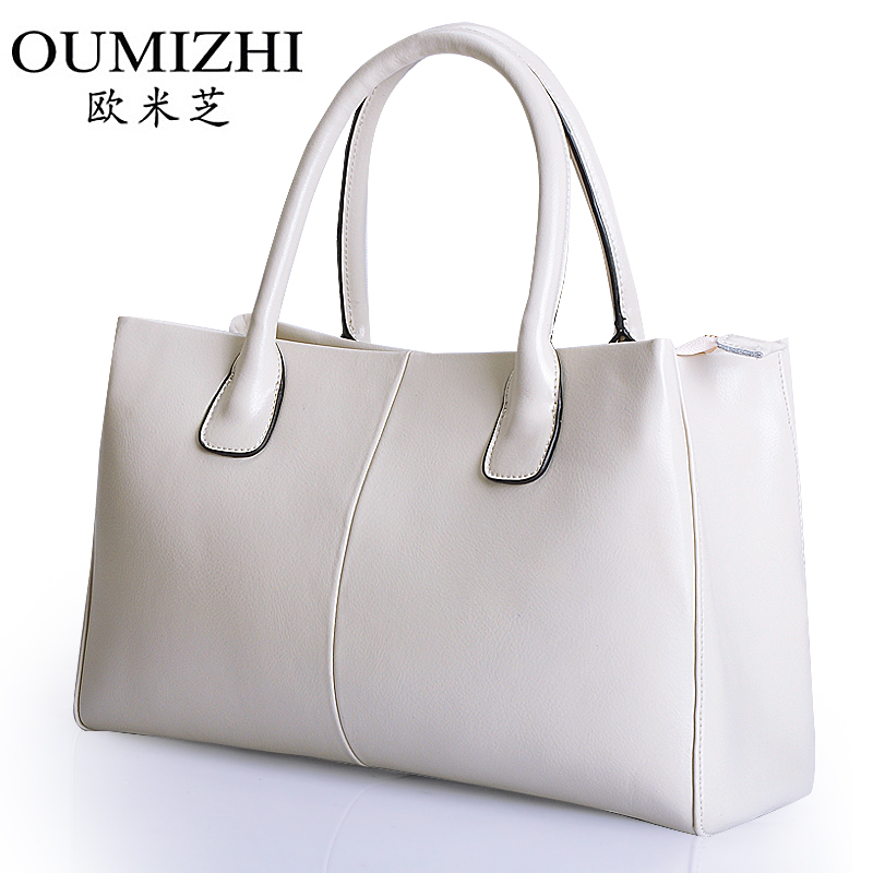 Omi Chi trend handbags leather laptop bag ladies new summer 2014 European and American casual shoulder bag large(China (Mainland))