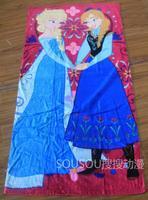 "new  Frozen Anna & Elsa Beach/Bath/pool towel sheets 100% cotton 30""*60"" purple"