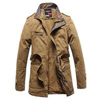 2014 men warm  winter outdoor Trench coat men's classic motorcycle jackets coat men jackets coat male overcoat XXXL